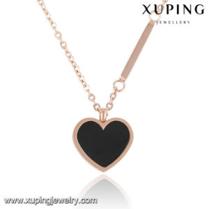 00182 Fashion Black Heart Design Stainless Steel Jewelry Pendant Necklace pictures & photos