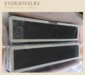 Car Lisence Plate Frame with Bling Rhinestone Decoration pictures & photos
