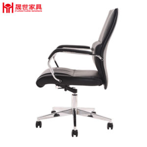 Black Color Boss Leather Office Chair with Armrest pictures & photos