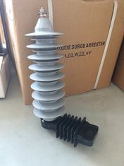 Polymer High Voltage Distribution Surge Arrester Without Gaps 10ka 27kv pictures & photos