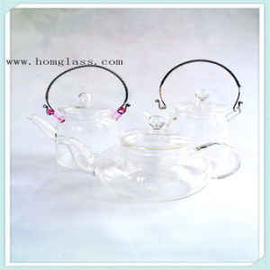Clear/ Decorate Glass Teapot Glass Kettle pictures & photos