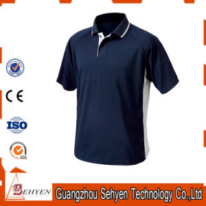 Custom Made Men′s High Quality Cotton Dark-Blue Polo T Shirts pictures & photos