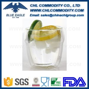 Logo Printing BPA Free Transparent Pyrex Glass Tea Mug pictures & photos