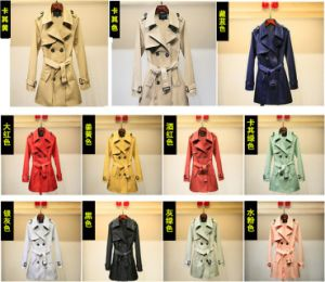 Temperament of The Autumn Fashion Leisure Trench Coat Lady Suit pictures & photos