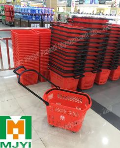 Supermarket Plastic Shopping Basket pictures & photos