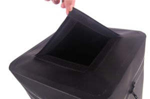 Black PVC Square Fishing Bucket Waterproof Dry Barrel (YKY7303) pictures & photos