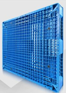 1100*1100*150mm Plastic Pallet Heavy Duty Shelf Rack 1.5t Load Grid Double Plastic Tray with 8 Steel for Warehouse Shelf Storage pictures & photos