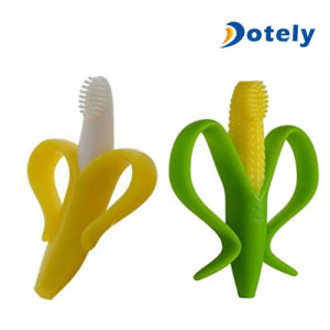 Silicone Infant Training Toothbrush Baby Corn Teether pictures & photos