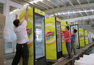 Supermarket Commercial Single Door Slim Beverage Display Cooler pictures & photos