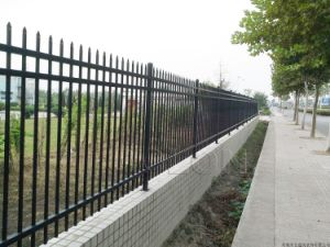 Powder Coated Fence Steel Panel, Modular Metal Fence pictures & photos