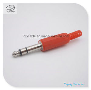 6.35mm/6.35 6.5mm/6.5 Stereo/Mono Plug W/Cable Protector for RCA/AV/TV/Audio Cable Use pictures & photos