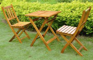 Outdoor Furniture Wooden Foldable Gardon Table Set pictures & photos