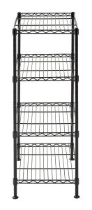 "4-Tier Industrial Welded Wire Shelving, 20"" Width X 32"" Height X 12"" Depth, Black pictures & photos"