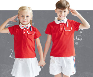 Custom Made Wholesale 100% Cotton School Uniform for Kids China Factory pictures & photos