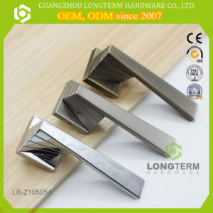 High Quality Satin Brushed Nickel Door Lever Lock Handle pictures & photos