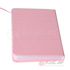 A5 Pink Leather Custom Notebook Printing with Sheetmarker pictures & photos