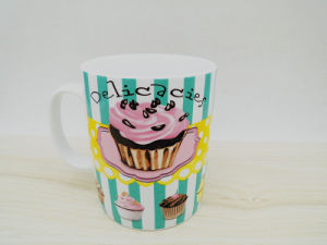 Ceramic Color Glaze Mug with Cute Pattern pictures & photos
