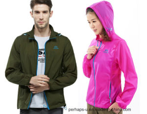 Quick-Drying Mens and Womens Skin Jacket with Anti-UV Material pictures & photos
