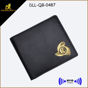 Hot Sale RFID Blocking Sheep Leather Man Wallet pictures & photos