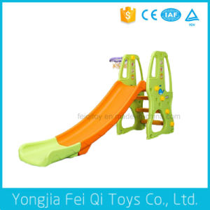 Indoor Playground Korean Combo Plastic Slide with Basketball Stand for Kids C Series pictures & photos