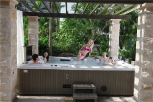 Romantic Jacuzzi Balboa SPA Hot Tub with Nice Fountain pictures & photos