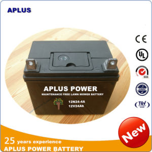 No Maintenance Lead Acid Battery 12n24-4 12V24ah for Riding Movers pictures & photos
