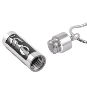 Tube Shape Stainless Steel Cremation Urn Necklace for Keepsake Jewellery pictures & photos