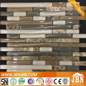 Dark Color Interlock Strip Mosaic Indoor and Outdoor Wall Tile (M855019) pictures & photos