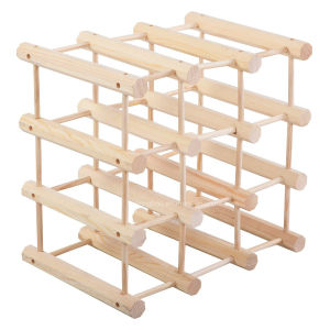 Display Wood Wine Rack Stackable Storage Bottle Shelf pictures & photos