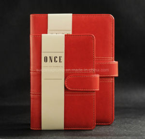 Promotion Ring Binder PU Leather Diary Notebook pictures & photos