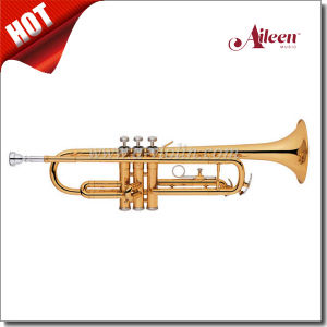 Stainless Steel Piston Yellow Brass Body Silver Plated Trumpet (TP8011G) pictures & photos