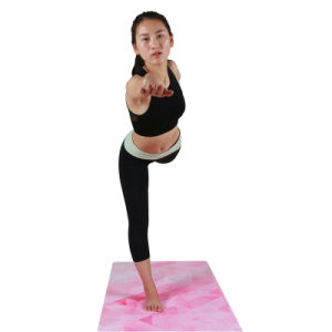 Suede Natural Tree Rubber Yoga Mat Anti-Slip Mat with Custom Printing pictures & photos