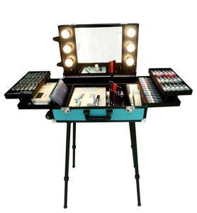 2017 Newest Professional Aluminum Permanent Makeup Traval Suitcase with Light pictures & photos