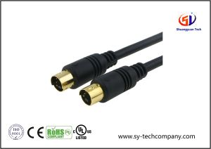 Gold 6FT S-Video Cable for TV/HDTV/DVD/VCR/Camcorder pictures & photos