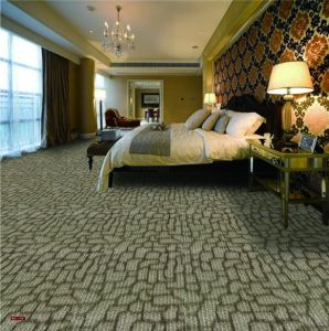 N411-Rolled 1/10 Nylon-PA6 Organic Woven Full-Width Repeat Office/Hotel/House Carpet pictures & photos