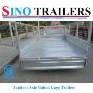 10X6 ATV Box Tandem Flatbed Trailers pictures & photos
