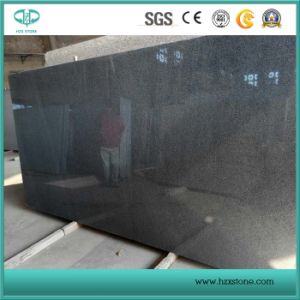 China G654 Granite, Padang Dark, Seasame Black Granite Tiles & Slabs pictures & photos