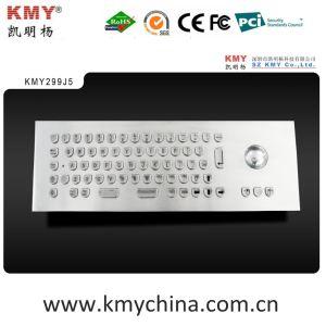 """U"" Shape Keys IP65 Kiosk Metal Keyboard with Trackball (KMY299J-5) pictures & photos"