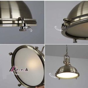 Guzhen Lighting Industrial Bronze Pendant Lamp pictures & photos