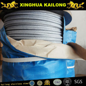 Stainless Steel Wire Rope-AISI 304 7x7-1.2mm (Annealed) pictures & photos