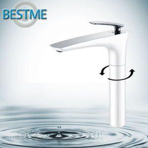 White Color Plating Bathroom Basin Faucet (BM-20023W) pictures & photos