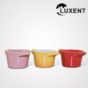 Modern Classic Ceramic Cooking Hand Painted Small Cake Tins Round pictures & photos