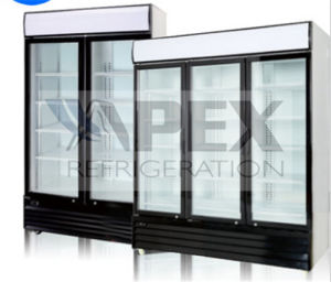 600L Sliding Door Beverage Cooler with Powerful Ventilated Cooling System pictures & photos