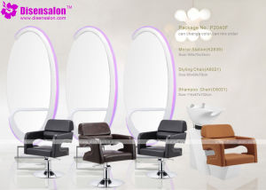 Popular High Quality Salon Furniture Mirror Barber Salon Chair (P2040E) pictures & photos