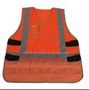 Hi-Visibility Reflective Safety Vest with En471 Standard Roadway pictures & photos