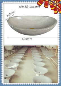 Marble Bathroom Wash Basin with Faucet Sunny Yellow Marble Stone Hand Wash Sink Prices pictures & photos