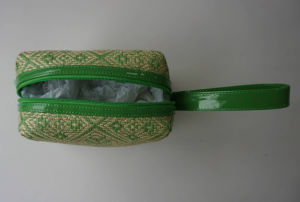 Green Straw and PVC Cosmetic Bag pictures & photos
