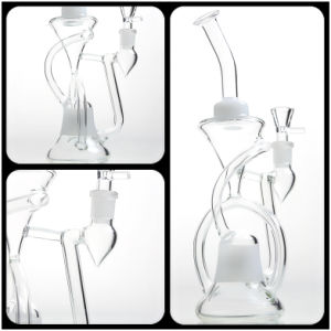 11′′ Glass Smoking Pipe Glass Water Pipe with Good Recycler and Percolator