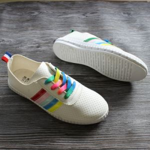 2017 New Style Women Shoes Colorful with Lace pictures & photos