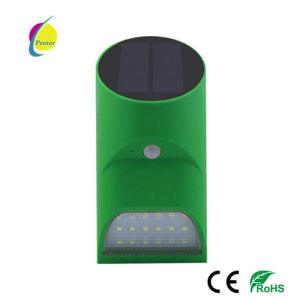 Green Shell 9PCS LEDs Sensor Solar Outdoor IP65 LED Wall Light pictures & photos